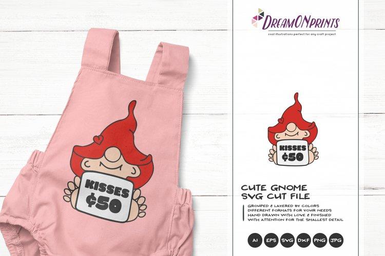 Cute Gnome SVG | Kisses SVG | Children SVG