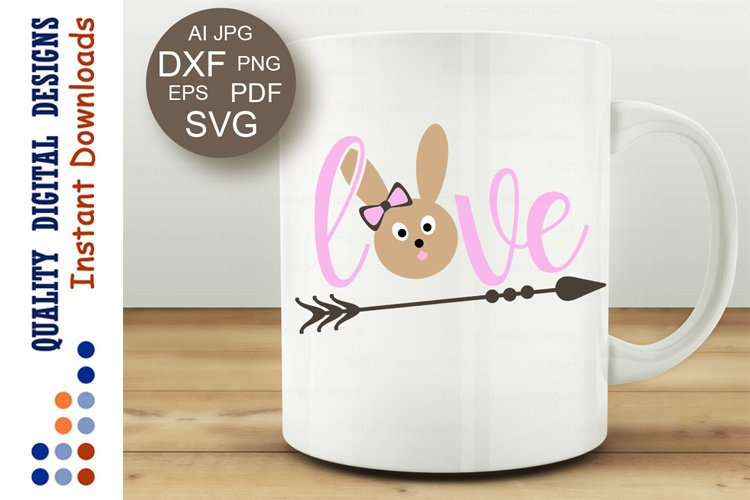 Happy Easter shirt Girls design Bunny face Love sign