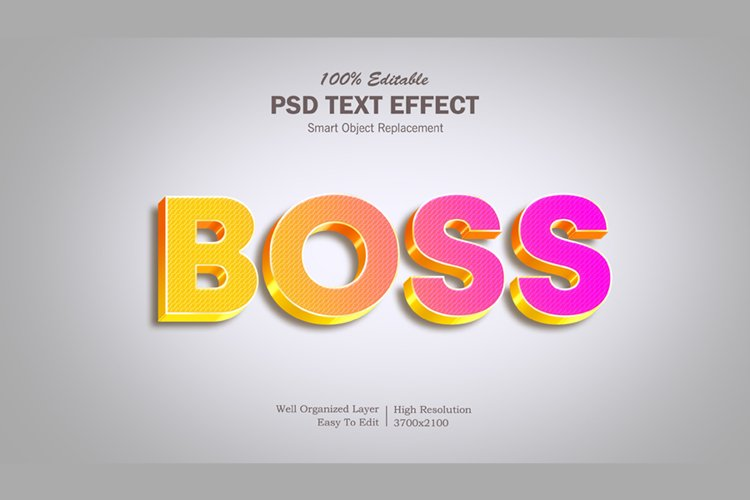 Boss 3 Gradient Text Effect example image 1