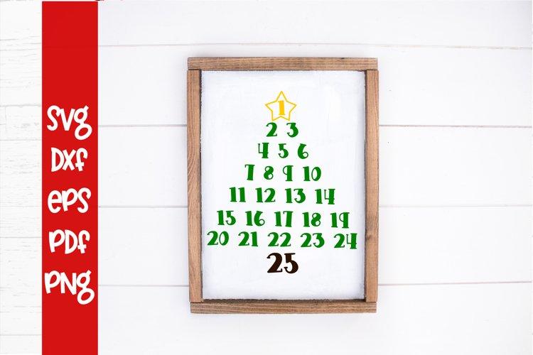 Christmas Tree Countdown SVG - Christmas SVG - Countdown SVG example image 1