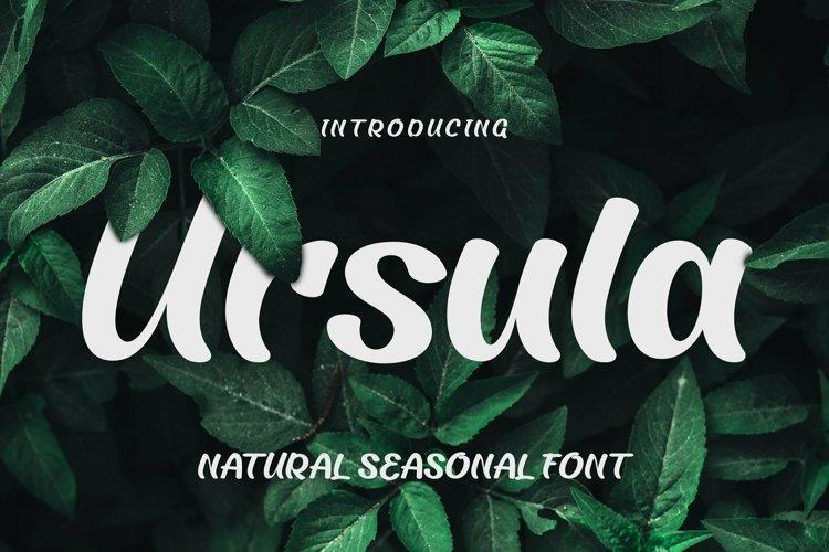 Web Font Ursula Font example image 1