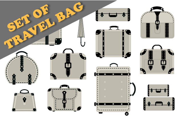 Vector suitcase for travel example image 1