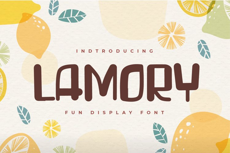 Lamory - Fun Display font example image 1