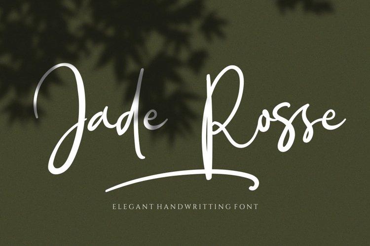 Jade Rosse - Signature Font
