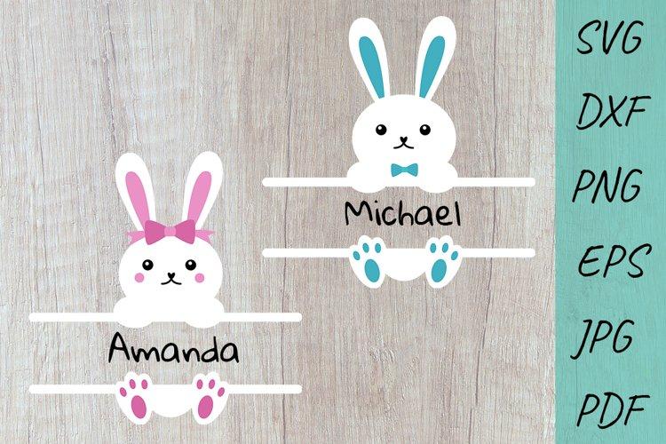 Easter SVG, Bunny Ears, Baby design, Easter Monogram Svg