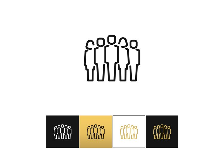 Staff group vector icon example image 1