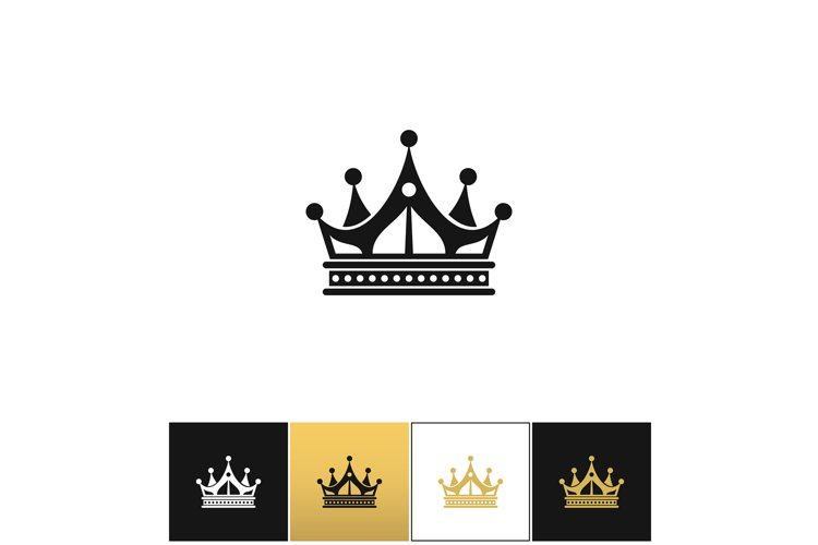 Crown vector icon example image 1