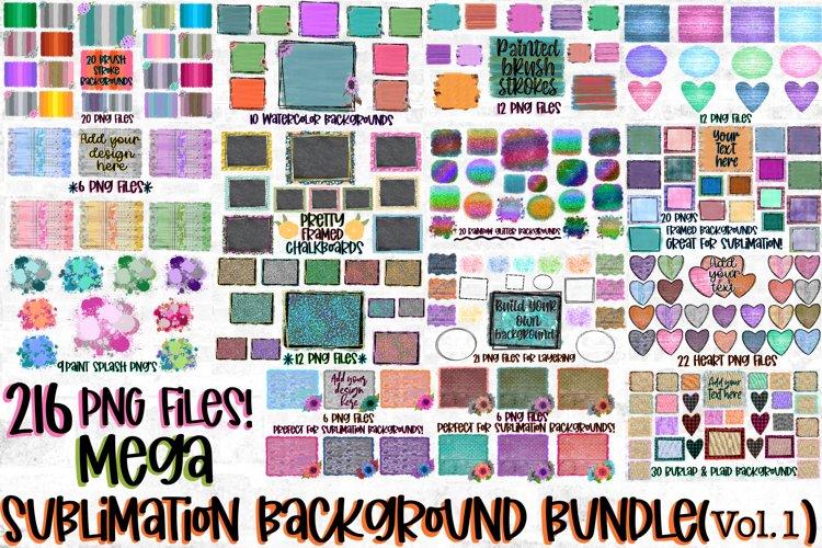 216 PNG Files! Mega Sublimation Background Bundle Volume #1