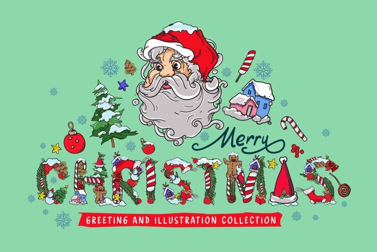 Christmas Greeting Card Illustration example image 1