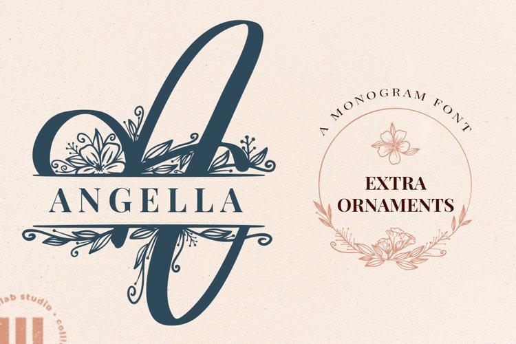 Angella Monogram Font example image 1