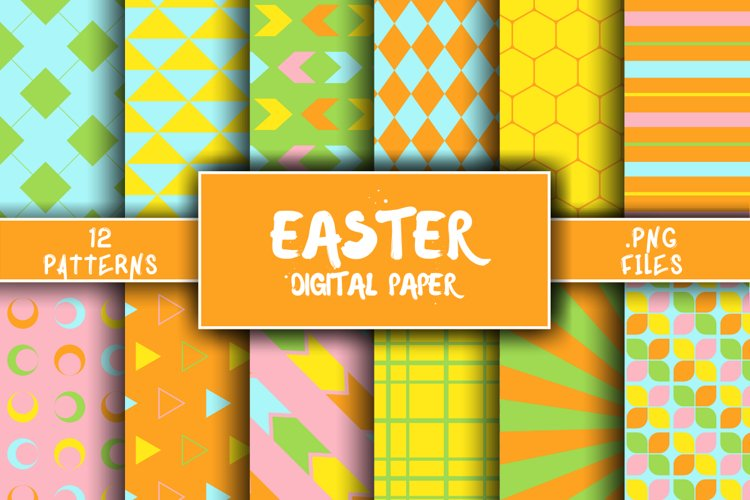 Easter Pattern Digital Paper