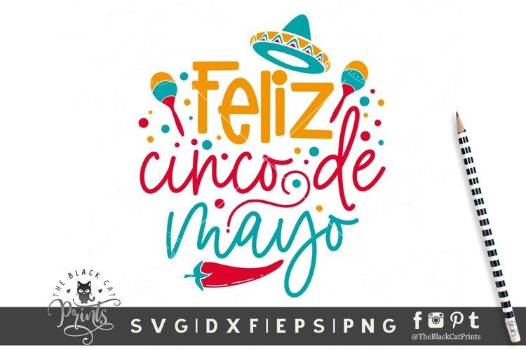 Feliz Cinco De Mayo SVG | Fiesta SVG | Sombrero Cut File