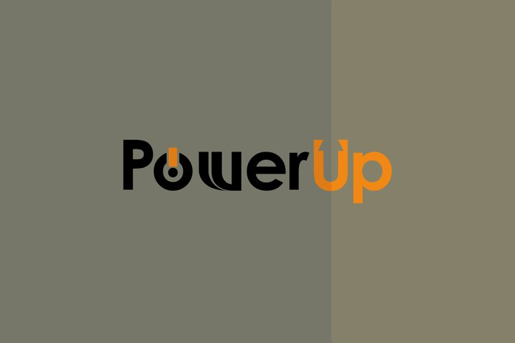 Smart Clever Unique Logo design POWER UP logo with Arrow example image 1