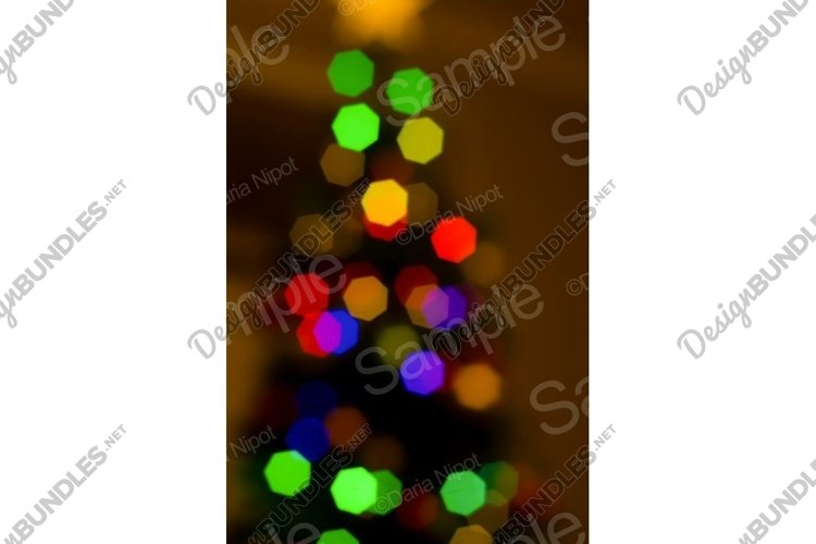 Abstract blurred disfocused Christmas lights background example image 1