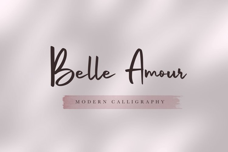 Belle Amour - Modern Calligraphy example image 1