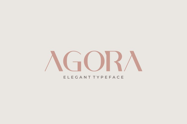 AGORA - Elegant Typeface example image 1
