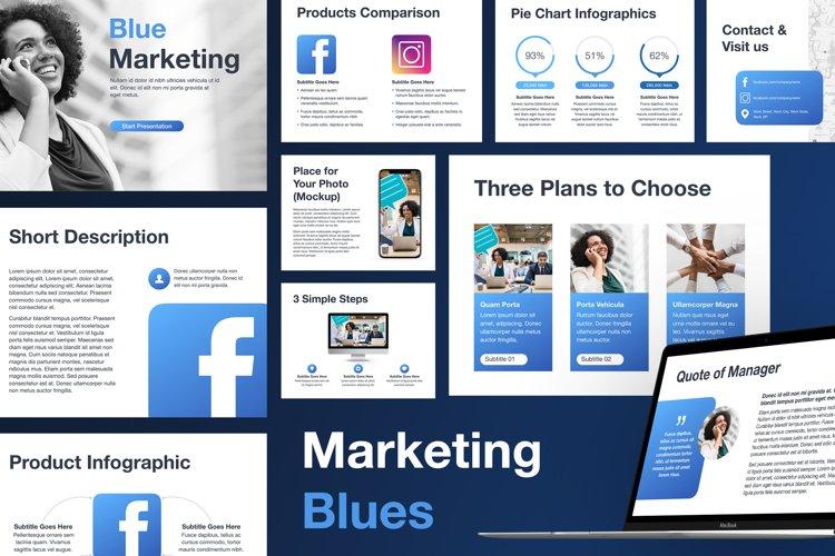 Marketing Blues Keynote Template example image 1