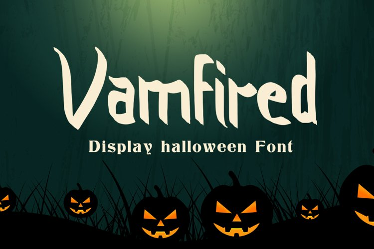 Vamfired - Display Halloween Font example image 1