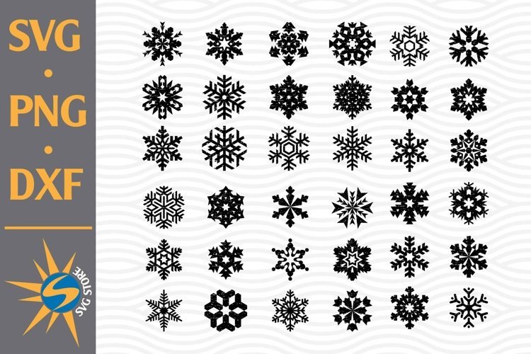 Distressed Snowflake SVG, PNG, DXF Digital Files Include example image 1