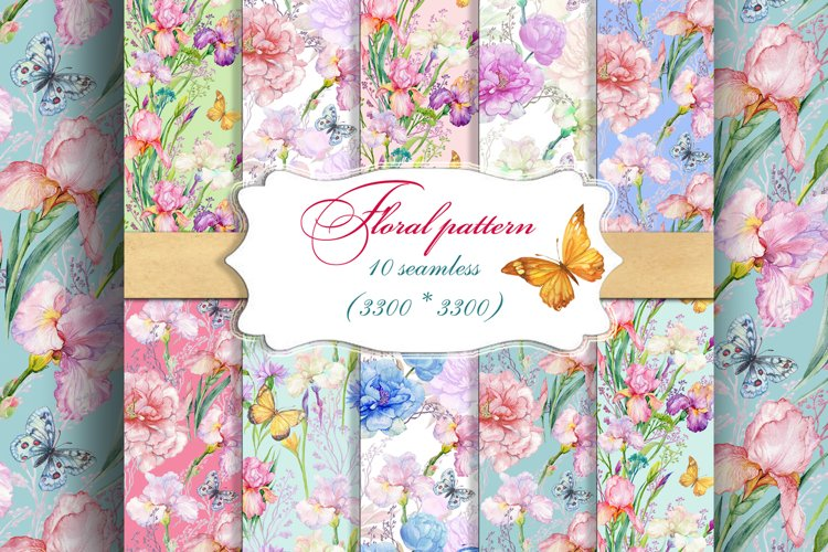 Seamless flower patterns,Digital paper.scrapbooking.Floral background.floral digital paper