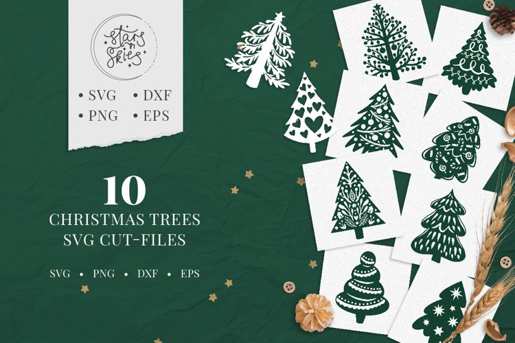 Christmas Trees SVG Cut-Files example image 1