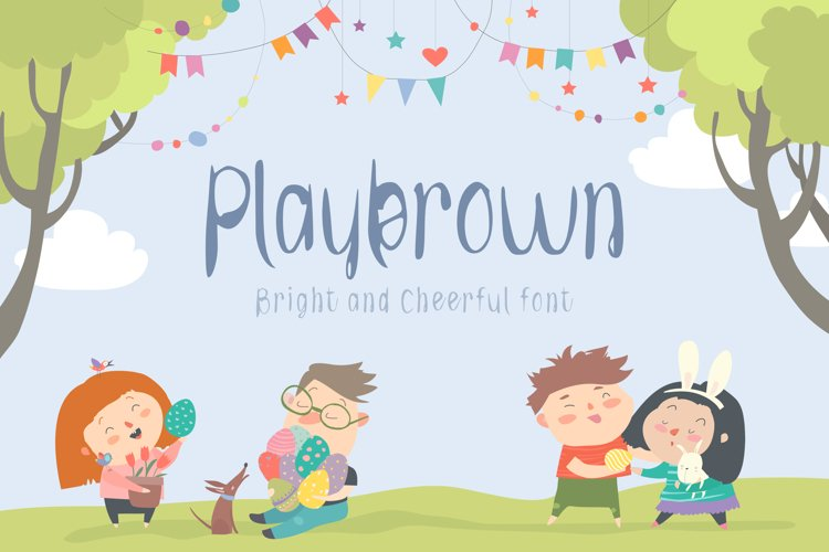 Playbrown Bright and Cheerful Display Font example image 1