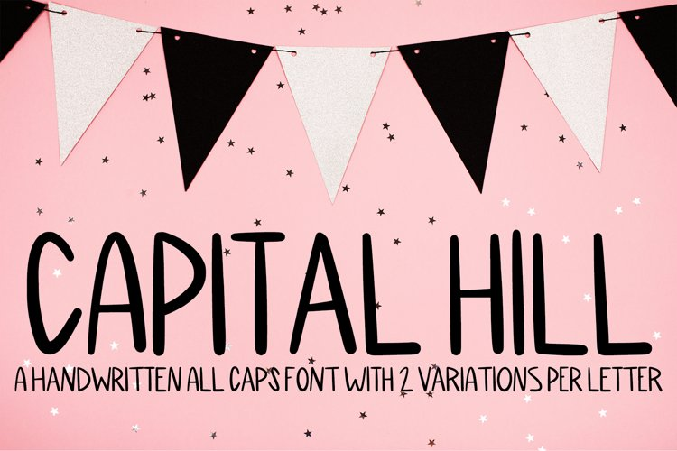 Capital Hill - A Handwritten All Caps Font