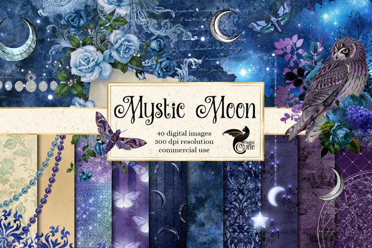 Mystic Moon Digital Scrapbooking Kit example image 1