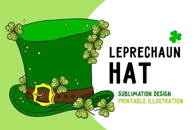 Leprechaun hat svg sublimation sesign st Patrick Day
