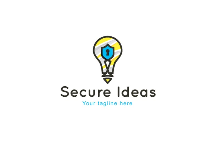 Secure Ideas - Safety Solutions Stock Logo Template example image 1