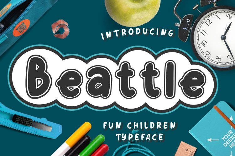 Beattle Fun Children Typeface example image 1
