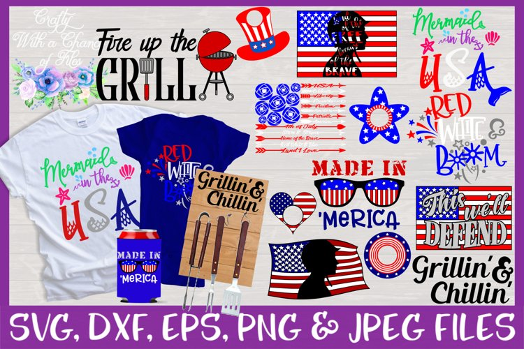Summer USA SVG Bundle for 4th of July example image 1