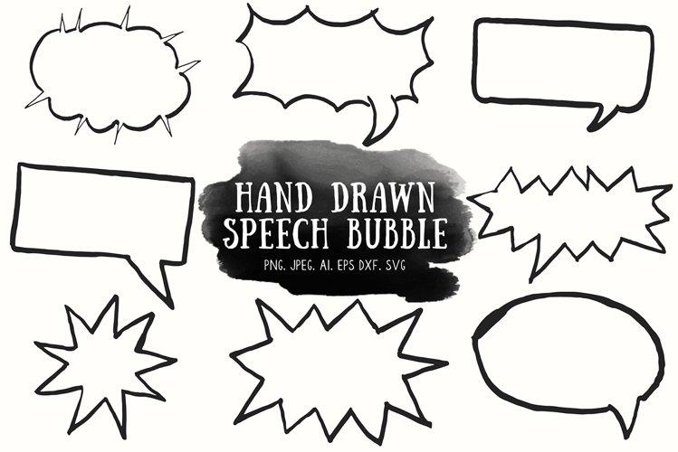 10 Handdrawn Speech Bubble Cliparts