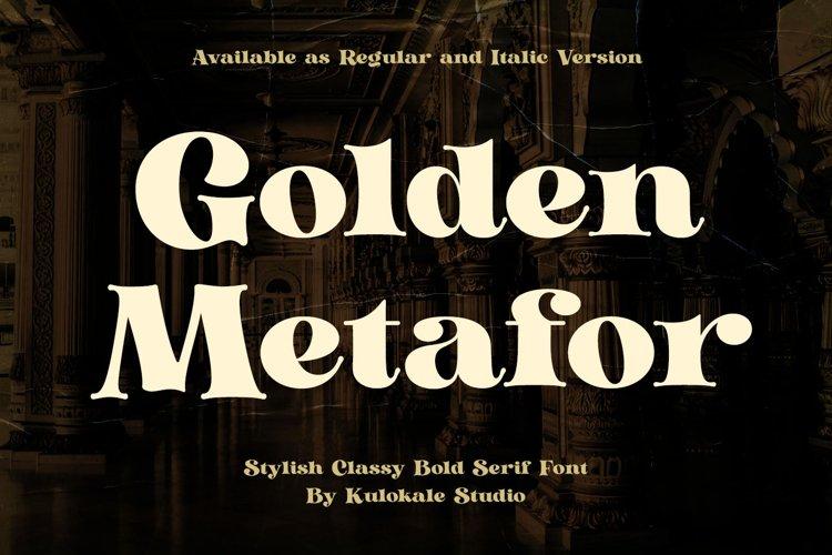 Classy Bold Serif - Golden Metafor example image 1
