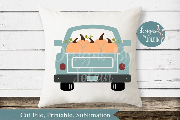 Fall Truck SVG, png, eps, sublimation, DXF example image 1