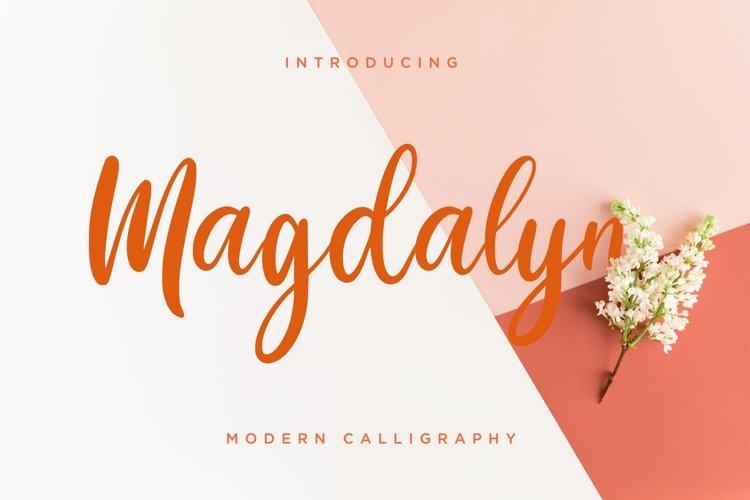 Magdalyn Modern Calligraphy example image 1