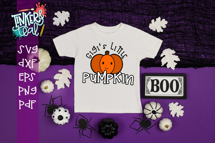 Gigi's Little Pumpkin Fall SVG example image 1