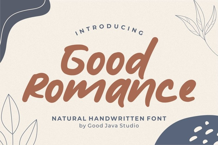 Good Romance - Natural Handwritten example image 1