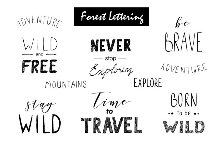 Wild Forest graphic pack - Free Design of The Week Design1