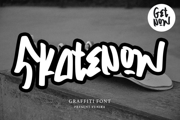 Skatenow | Graffiti Font example image 1