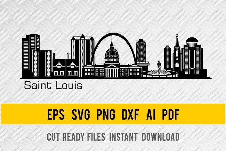 Saint Loius City Skyline SVG, State of Missouri, Cut File example image 1