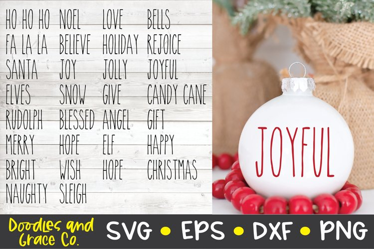 Rustic Christmas Words Svg Christmas Svg Png Dxf Eps 352592 Cut Files Design Bundles