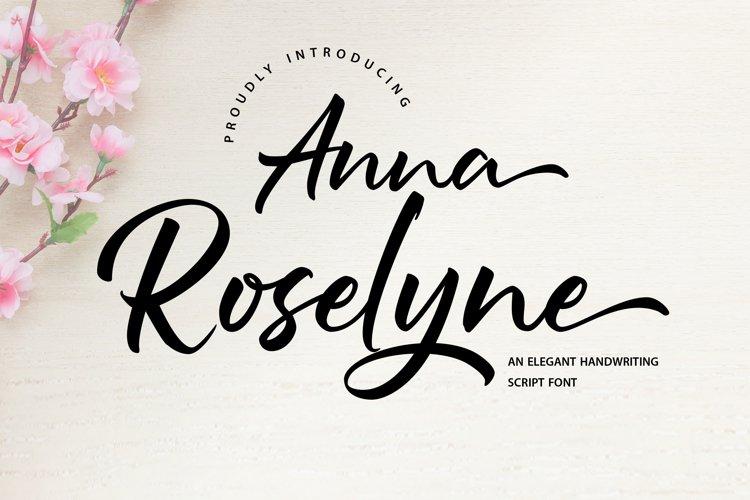Anna Rosselyn | Elegant Handwriting Script Font example image 1