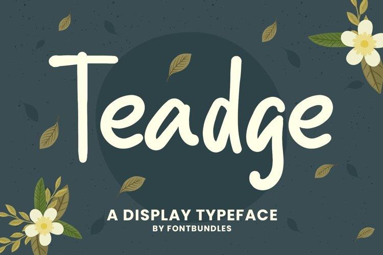 Web Font Teadge example image 1