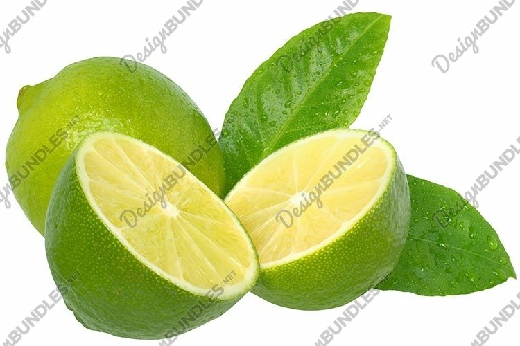 Stock Photo - Fresh lime on a white background.