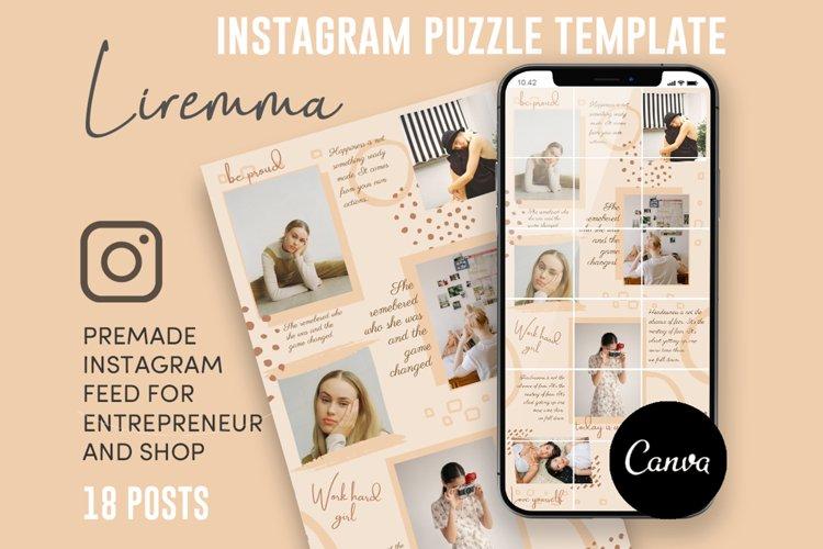 Liremma, Boho Style Instagram Puzzle Feed, 18 Posts example image 1