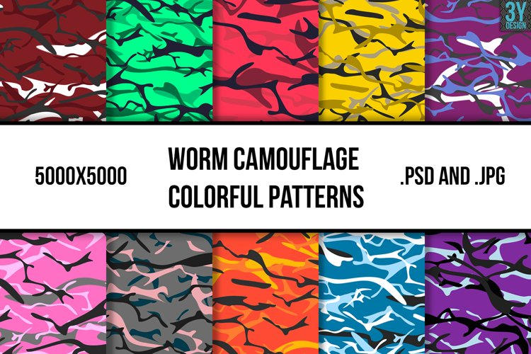 Worm Camouflage Colorful Patterns