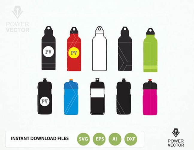 Water Bottles - A Sports Clipart Collection