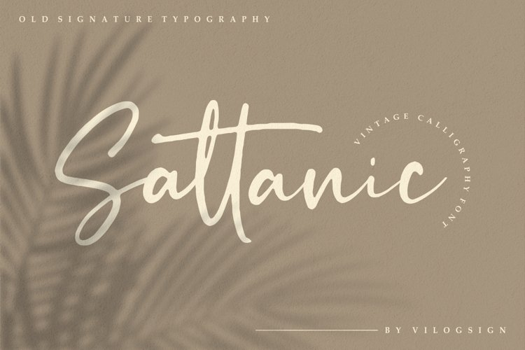 Sattanic Old Signature Typography Font example image 1
