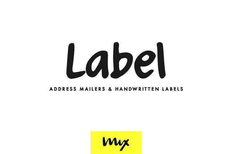 Label - A Clean Handwritten Font example image 1